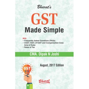 Bharat Law House's GST Made Simple by CMA. Dipak N. Joshi